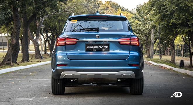 mg rx5 review road test rear exterior philippines