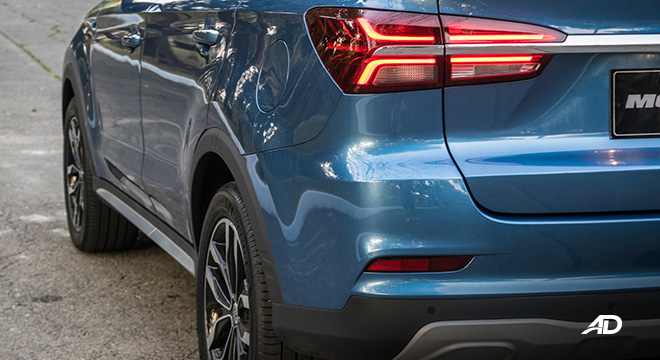 mg rx5 review road test rear reflector exterior