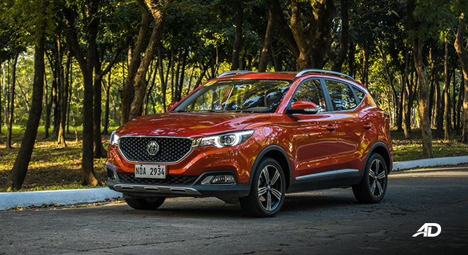 mg zs review road test beauty shot exterior philippines