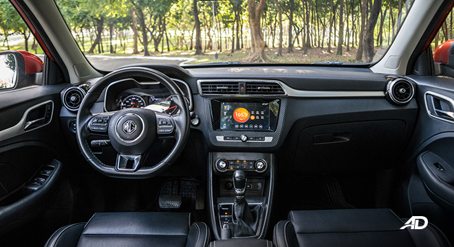 mg zs review road test dashboard interior philippines