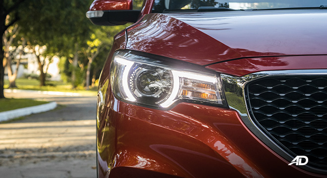 mg zs review road test LED headlights exterior philippines
