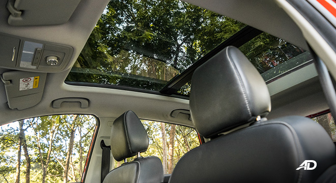 mg zs review road test panoramic sunroof interior philippines