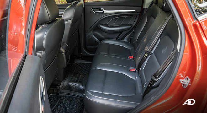 mg zs review road test rear cabin interior philippines