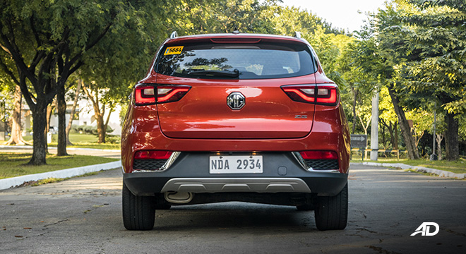 mg zs review road test rear exterior