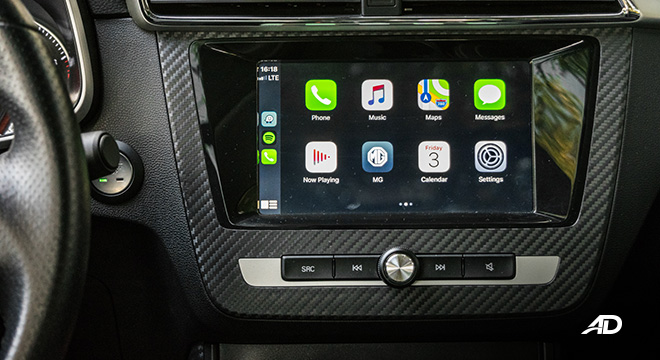mg zs review road test touchscreen infotainment system apple carplay philippines