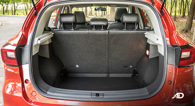 mg zs review road test trunk cargo interior philippines
