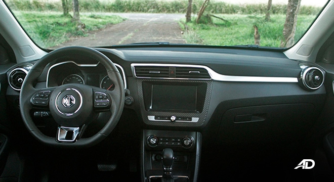 MG ZS road test review dashboard interior philippines