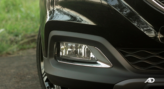 MG ZS road test review fog lamps exterior