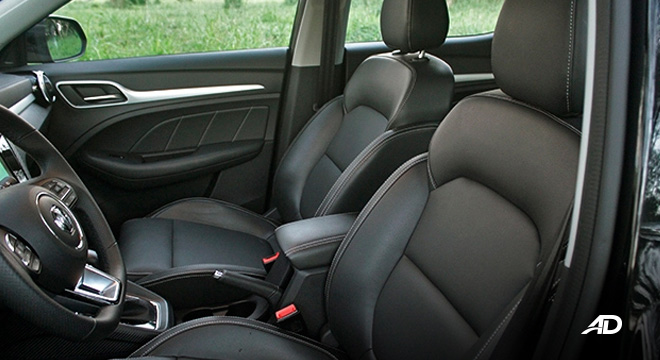 MG ZS road test review front cabin interior philippines