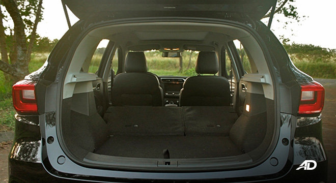 MG ZS road test review rear trunk cargo interior philippines
