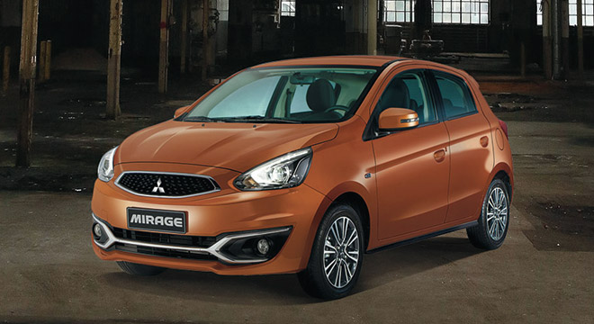 Mitsubishi Mirage 2018 orange