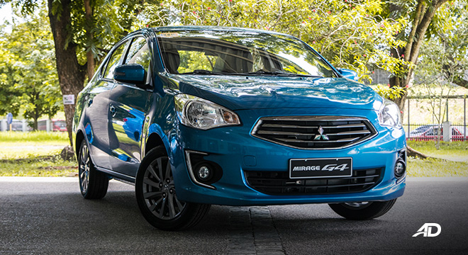 mitsubishi mirage g4 road test exterior front quarter philippines