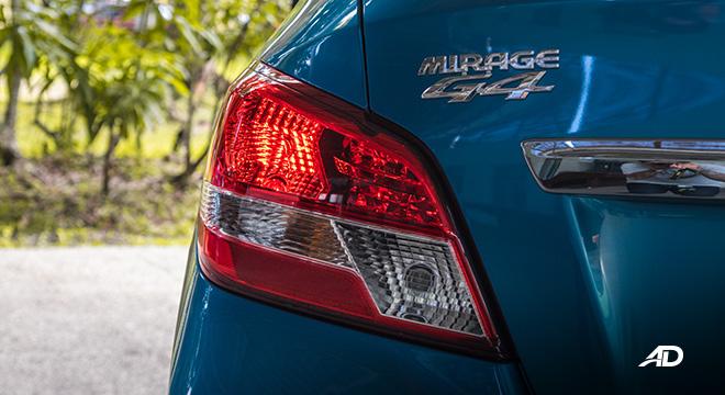 mitsubishi mirage g4 road test exterior taillights