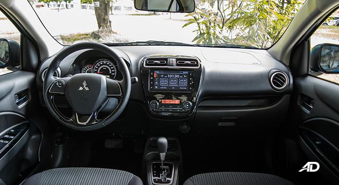 mitsubishi mirage g4 road test interior dashboard philippines