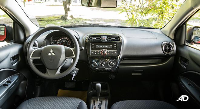 mitsubishi mirage road test dashboard interior philippines