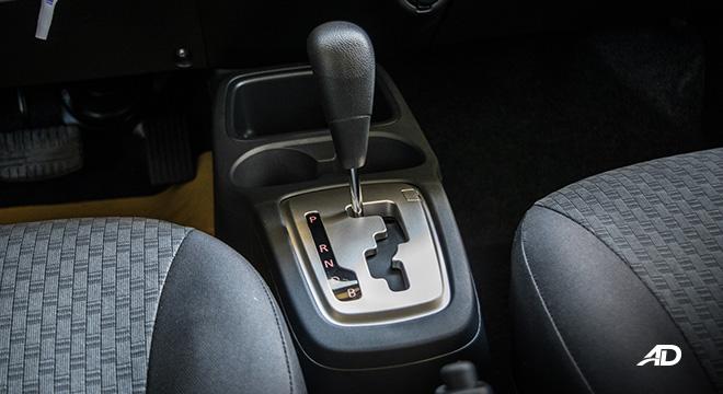 mitsubishi mirage road test gear lever interior