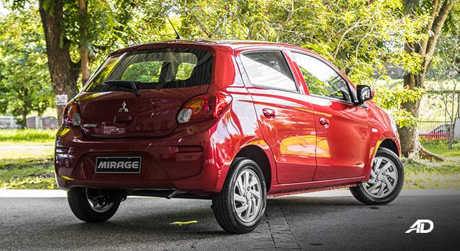 mitsubishi mirage road test rear exterior