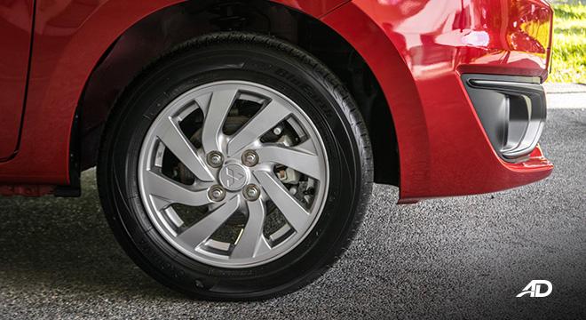 mitsubishi mirage road test wheels exterior