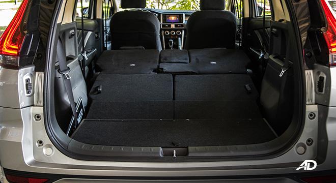 mitsubishi xpander road test cargo fold interior philippines