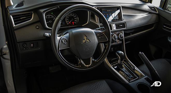 mitsubishi xpander road test front cabin interior