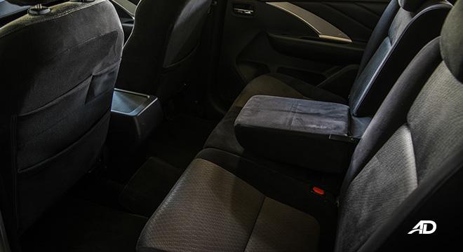 mitsubishi xpander road test second row interior