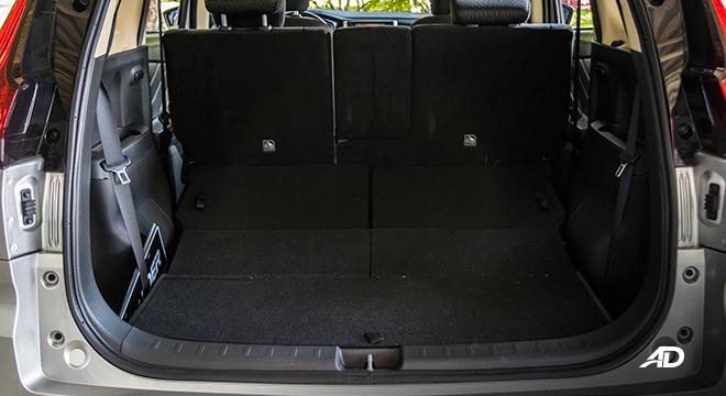 mitsubishi xpander road test trunk cargo
