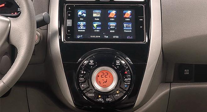 Nissan Almera infotainment system
