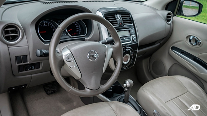 nissan almera road test review front cabin interior