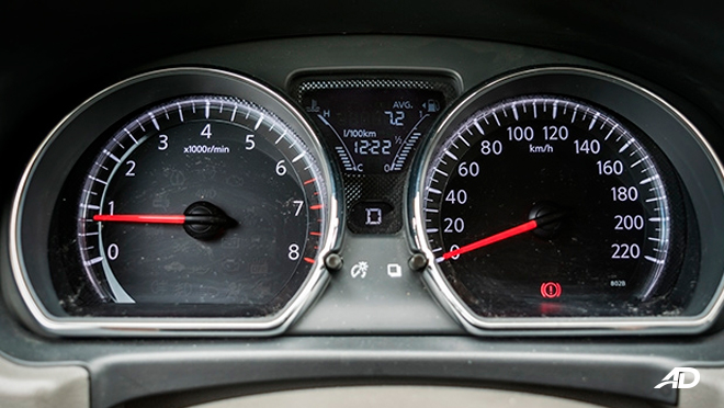 nissan almera road test review instrument cluster interior