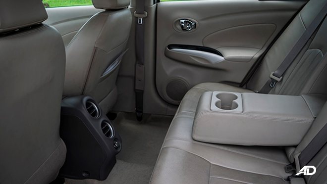 nissan almera road test review rear seats interior philippines