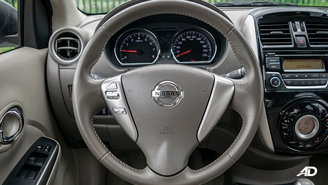 nissan almera road test review steering wheel interior philippines