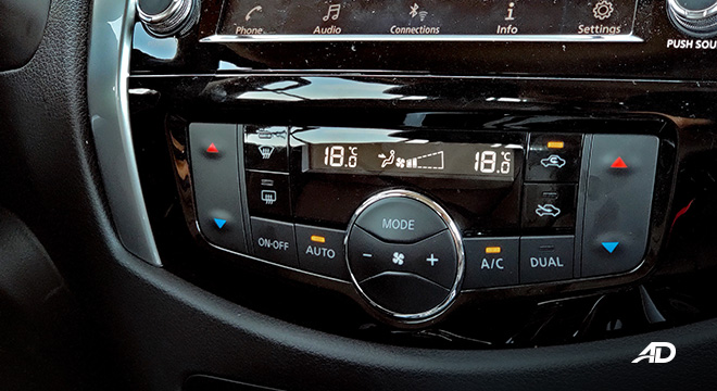 Nissan terra review road test climate control interior
