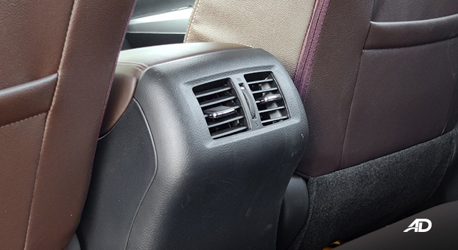 Nissan terra review road test rear aircon vents interior philippines