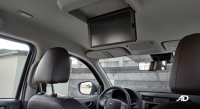 Nissan terra review road test second row monitor interior