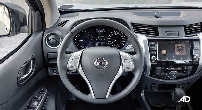 Nissan terra review road test steering wheel interior