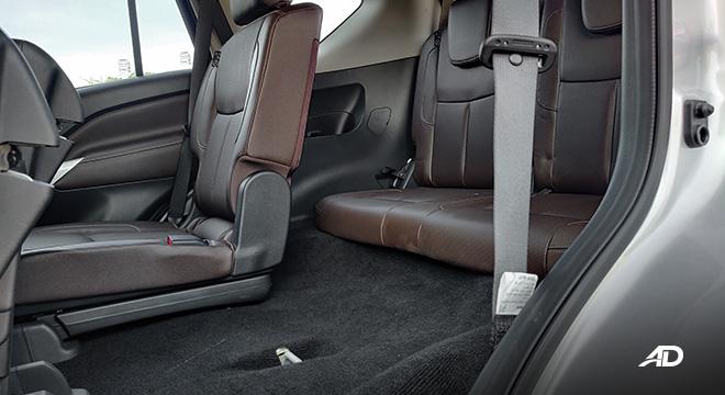 Nissan terra review road test third row legroom interior