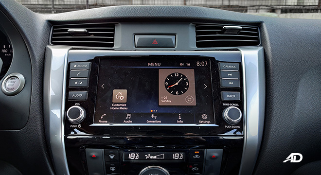 Nissan terra review road test touchscreen infotainment interior philippines
