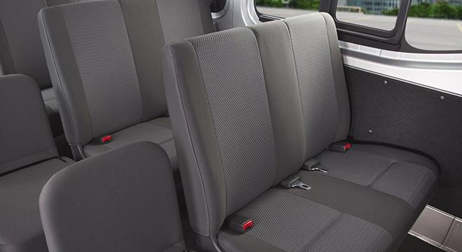 Nissan Urvan rear seats