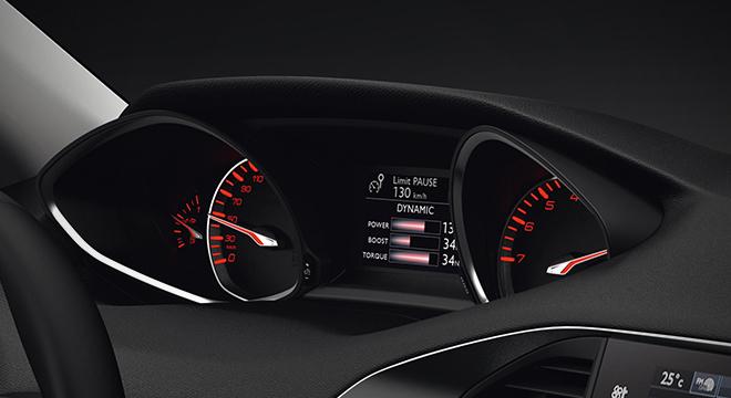 Peugeot 308 2018 instrument cluster