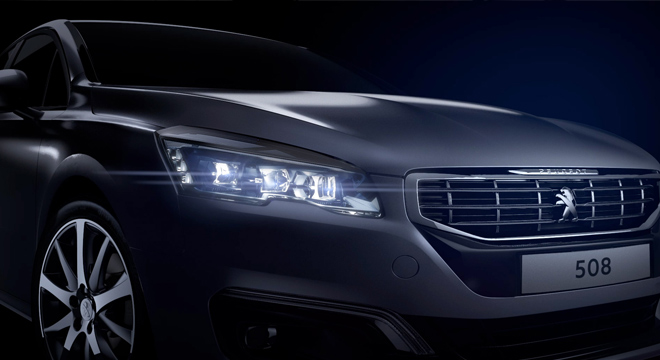 Peugeot 508 2018 headlights