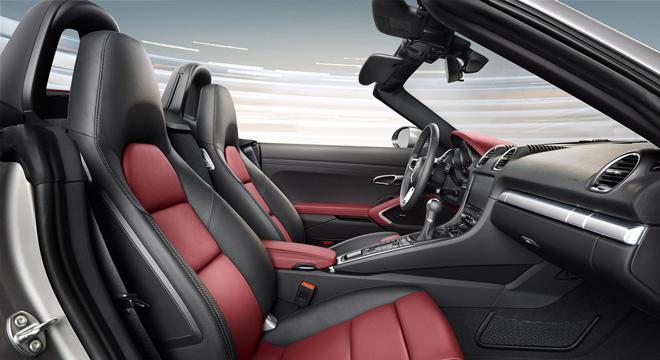 Porsche 718 Boxster 2018 interior