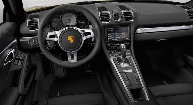 Porsche Cayman 2018 dashboard
