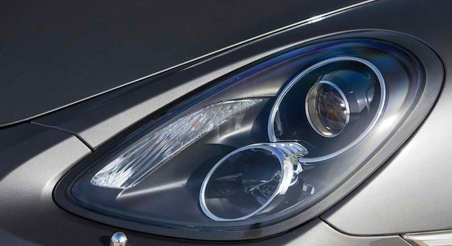 Porsche Cayman 2018 headlights