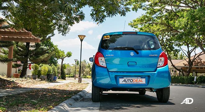 suzuki celerio road test exterior rear philippines