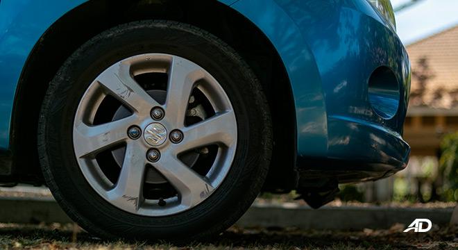 suzuki celerio road test exterior wheels