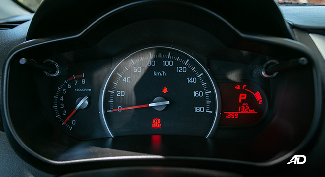 suzuki celerio road test interior instrument cluster