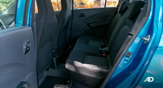 suzuki celerio road test interior rear cabin