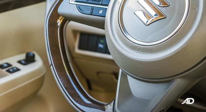 suzuki ertiga road test interior