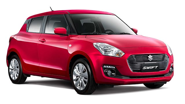 Suzuki Swift GL Red Philippines front quarter left