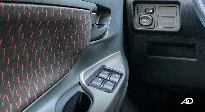 toyota avanza road test door controls interior